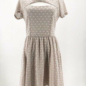 Lauren Conrad Womens A Line Dress Beige M